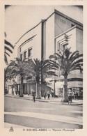 Sidi Bel-Abbes Algeria, Municipal Theater, Deco Architecture, Street Scene C1930s Vintage Postcard - Sidi-bel-Abbes