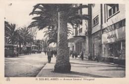 Sidi Bel-Abbes Algeria, Avenue Weygand Street Scene Near Municipal Theater C1930s Vintage Postcard - Sidi-bel-Abbes