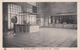 Sidi Bel-Abbes Algeria, Gare P-L-M Railroad Station Interior View C1930s Vintage Postcard - Sidi-bel-Abbes