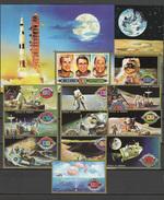 Umm Al Qiwain 1972 Space, Apollo 15 Set Of 10 + 2 S/s MNH - Space
