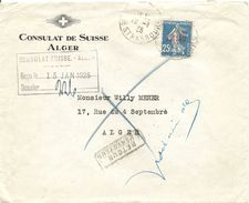 Algier, 1925, Mi Nr. 10 Overprint, Cover From Alger, Local Use, Inconnu, Retour See Scan - Altri - Africa