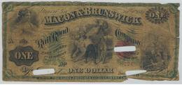 U.S.A. 1 Dollar Macon & Brunswick, 1867, Used, See Scan. Rare. - United States Of America