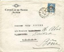 Algier, 1925, Mi Nr. 10 Overprint, Cover From Alger, Local Use, Forwarded To Bone!, See Scan - Altri - Africa