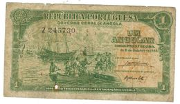 Angola 1 Angolar, Comm. Issue, P-70, Used, See Scan. Rare. - Angola