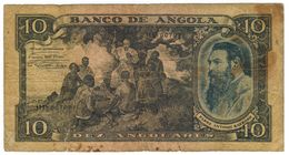 Angola 10 Angolares, P-78, F+,  See Scan. Rare. - Angola