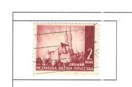 Croazia 1941/43 Castelli Scott.35+See Scans Usato - Croatia