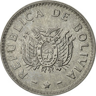 Bolivie, 10 Centavos, 1991, TB+, Stainless Steel, KM:202 - Bolivie