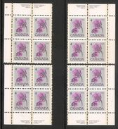 006091 Canada 1977 4c Plate Block 1 Set MNH - Plate Number & Inscriptions