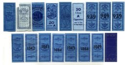 UNITED STATES, Tobacco Labels, Ave/F - Fiscaux