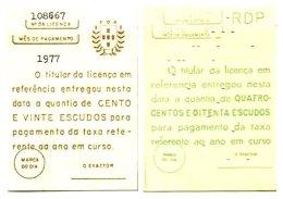 PORTUGAL, Radio Licence, F/VF - Ungebraucht