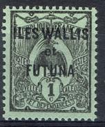 "Wallis And Futuna, Overprint ""ILES WALLIS ET FUTUNA"", 1c., 1920, MH VF - Wallis And Futuna"