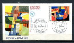 1986  FRANCE FDC 1ER JOUR TABLEAU MODERNE DU PEINTRE ESTEVE - Modern