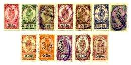 NORWAY, Stamp Duty, B&H 33/53 Disc., Used, F/VF, Cat. £ 16 - Steuermarken