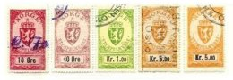 NORWAY, Stamp Duty, Used, F/VF - Revenue Stamps
