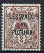 "Wallis And Futuna, Overprint ""ILES WALLIS ET FUTUNA"", 2c., 1920, MH VF - Unused Stamps"