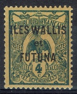 "Wallis And Futuna, Overprint ""ILES WALLIS ET FUTUNA"", 4c., 1920, MH VF - Unused Stamps"