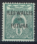 "Wallis And Futuna, Overprint ""ILES WALLIS ET FUTUNA"", 5c. Green, 1920, MH VF - Wallis And Futuna"