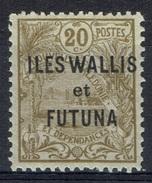 "Wallis And Futuna, Overprint ""ILES WALLIS ET FUTUNA"", 20c. 1920, MH VF - Wallis And Futuna"