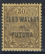 "Wallis And Futuna, Overprint ""ILES WALLIS ET FUTUNA"", 30c., Brown, 1920, MH VF - Wallis And Futuna"