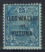 "Wallis And Futuna, Overprint ""ILES WALLIS ET FUTUNA"", 25c., Blue, 1920, MH VF - Wallis And Futuna"