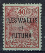 "Wallis And Futuna, Overprint ""ILES WALLIS ET FUTUNA"", 40c., 1920, MH VF - Wallis And Futuna"