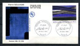 1986  FRANCE FDC 1ER JOUR TABLEAU MODERNE DU PEINTRE PIERRE SOULAGE - Modern