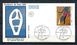 1986  FRANCE FDC 1ER JOUR TABLEAU MODERNE DU PEINTRE JEAN ARP - Modern
