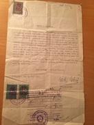 BELGRADO-YUGUSLAVIA-BELGRADO-MARCHE DA BOLLO-SU DOCUMENTO DEL MINISTERO DELLE FERROVIE - 1945-1992 Socialistische Federale Republiek Joegoslavië
