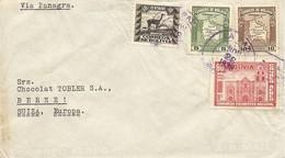 Bolivia, 1939, Correo Aereo, Via Panagra, Por Suiza, Switzerland, Mi 252+253, Mixed Franking, See Scans! - Bolivia