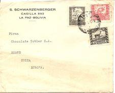 Bolivia, 1940, Correo Aereo,  Por Suiza, Switzerland, Mixed Franking, See Scans! - Bolivia