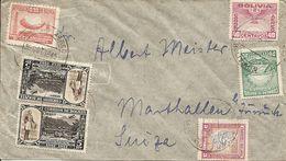 Bolivia, 1940, Correo Aereo, Por Suiza, Switzerland, Mi 371 ++, Mixed Franking, See Scans! - Bolivia