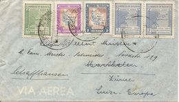 Bolivia, 1945, Correo Aereo, Por Suiza, Switzerland, Marthalen, Mi 385, Mixed Franking, See Scans! - Bolivia