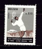 Bolivia 512 NH 1965 Tennis Player - Bolivia