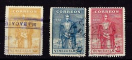Venezuela C290-92 Used 1930 Set - Venezuela