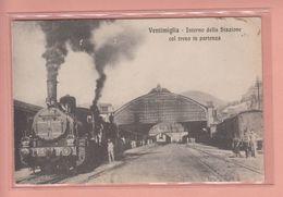 OLD POSTCARD ITALY - ITALIA -    TRAIN - STATION - VENTIMIGLIA - Imperia