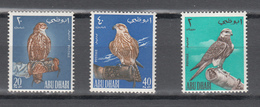 Abu Dhabi 1965,3V,birds Of Prey,roofvogels,greifvögel,oiseaux,pajaros,uccelli,aves,MNH/Postfris(A3532) - Aigles & Rapaces Diurnes