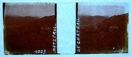 PHOTO STEREO SUR PLAQUE DE VERRE - METZERAL - LE CHATEAU - 10,6 X 4,4 Cm - Photos Stéréoscopiques