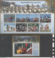 BHUTAN, 2017, MNH, DRUK WANGYEL FESTIVAL, COSTUMES, DANCES, MASKS, MOUNTAINS, SHEETLET+S/SHEET - Dance