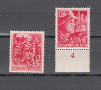 DR 1945,2W,Mi 909+910 Mit Rand,armee,leger,soldaat,soldier,soldate,MNH/Postfris(D2605) - 2. Weltkrieg
