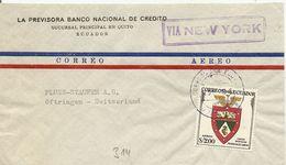 Ecuador, 1961, Airmail  Cover To Switzerland, Mi 953, Single Franking, Via New York, See Scans! - Ecuador
