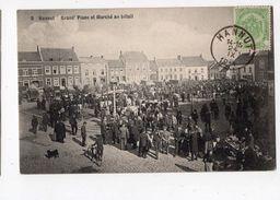 6 - HANNUT  -  Grand'place Et Marché Au Bétail - Hannuit