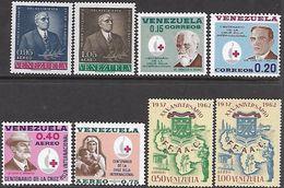 Venezuela   1963   8 Diff Including Red Cross Set  MNH**    2016 Scott Value $8.80 - Venezuela