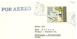 Ecuador, 1961, Airmail  Cover To Switzerland, Mi 1055, Single Franking, See Scans! - Ecuador