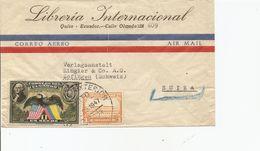 Ecuador, 1947, Airmail  Cover To Switzerland, Mi 401, Mixed Franking, See Scans! - Ecuador