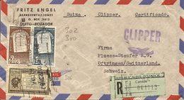 Ecuador, 1957, Registered Airmail  Cover To Switzerland, Mi 920,922 929, Clipper, See Scans! - Ecuador