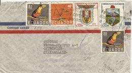 Ecuador, 1953, Registered Airmail  Cover To Switzerland, Mi 811, Clipper, See Scans! - Ecuador