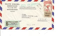 Ecuador, 1958, Registered Airmail  Cover To Switzerland, Mi 954+++, Clipper, See Scans! - Ecuador