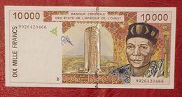 10000 Francs Banque Centrale Des états De  L'Afrique De L'Ouest - West African States