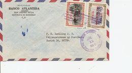 Honduras, 1957. Airmail Cover To Switzerland, Mi 483,486,  See Scan! - Honduras