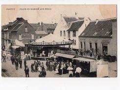9-HANNUT-place Du Marché Aux Porcs*fête Foraine*métiers Forains*carrousel Galopant*chevaux De Bois*quincaillerie GUSTIN* - Hannuit